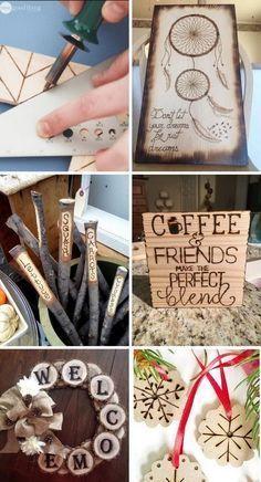 DIY Wood Burning Art Project Ideas & Tutorials #woodworkingtool