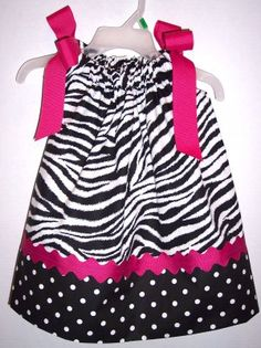 Adorable pillow case dress for a baby or toddler!