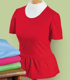 Sew your own trendy peplum t-shirt!