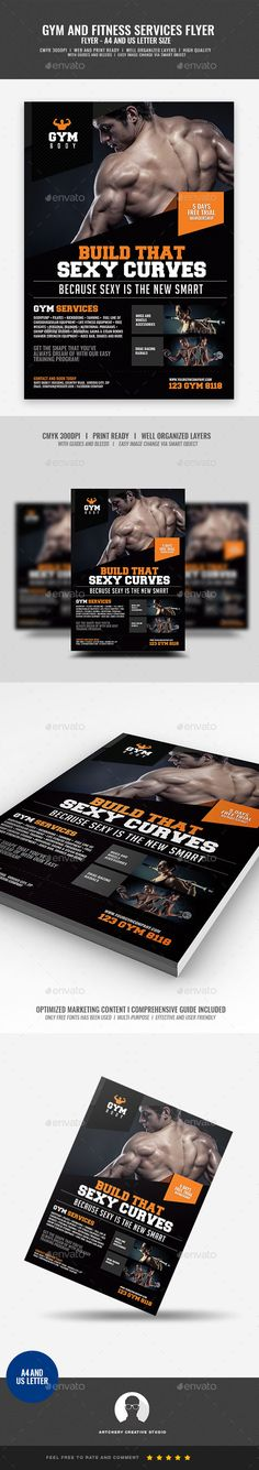 GYM FREE PSD FLYER TEMPLATE Web Design Patterns Pinterest - Gym Brochure Templates