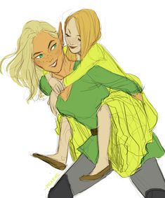Aelin and Evangeline (EoS) by meabhd <<< or maybe with her future daughter.... who knows
