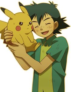 Ash and Pikachu.
