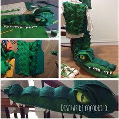 Si quieres hacer un disfraz de cocodrilo, con estas imágenes podrás coger un montón de ideas para que tu disfraz de cocodrilo resulte ideal