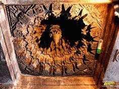 Intricate ceiling carvings and design inside Keshava Temple, Somanathapura…