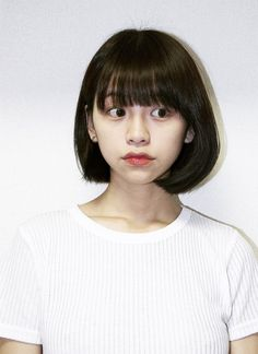 16 Ideas Hair Curly Color Posts in 2019 Asian Short Hair, Girl Short Hair, Short Girls, Short Hair Cuts, Cut My Hair, Her Hair, Hair Inspo, Hair Inspiration, Medium Hair Styles