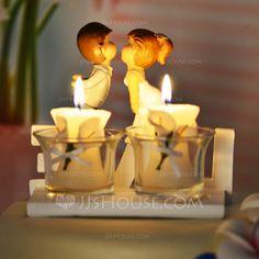 Kissing Couple Ceramic Wedding Cake Topper (119038317)