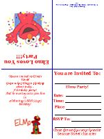 Free printable birthday party invitation templates party ideas find the ultimate free elmo kid birthday invitation filmwisefo Choice Image