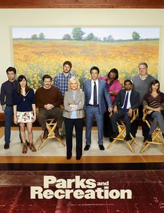 Still of Rashida Jones, Jim O'Heir, Amy Poehler, Ron Swanson, Ann Perkins, Aziz Ansari, Aubrey Plaza and Andy Dwyer in Parks and Recreation