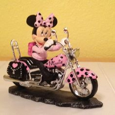 Minnie on a motorcycle