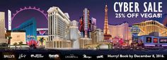 #Cyber #Sale 25% off #LasVegas Caesars Palace, Paris, Planet Hollywood, Harrah's, Bally's, Flamingo, Rio and more! http://caesars.7eer.net/c/23422/324527/30