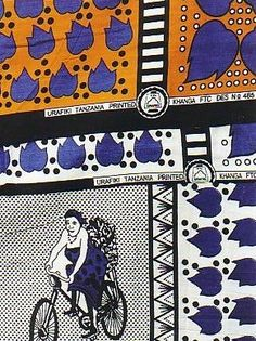 A kanga is a rectangular, cotton textile from East Africa.  It is often worn as a dress.