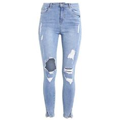 SINNER Jeans Skinny Fit mid blue ❤ liked on Polyvore featuring jeans, pants, calça, skinny jeans, blue jeans, super skinny jeans, blue skinny jeans and skinny leg jeans