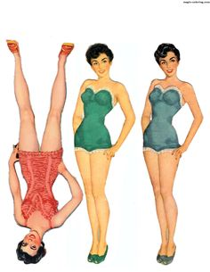 MAGIC-COLORING | Elizabeth Taylor Paper Dolls 3