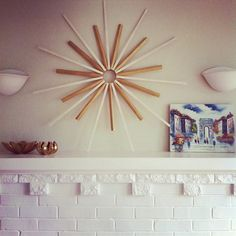 Wall sunburst..Could also serve as a clock..just purchase the works for a clock and you have it.Nice