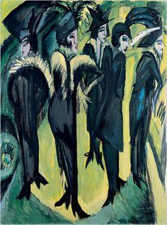 """Potsdamer Platz"" (1914) - Ernst Ludwig Kirchner"