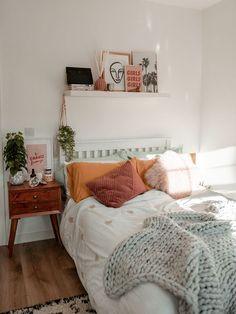 Home Decor Bedroom .Home Decor Bedroom Cute Bedroom Ideas, Cute Room Decor, Room Ideas Bedroom, Dream Bedroom, Home Bedroom, Bedroom Inspo, Master Bedroom, Bedroom Designs, Boho Teen Bedroom