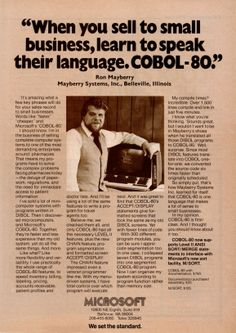 Microsoft COBOL-80, January 1981 ahh COBOL,  one of my first languages LF