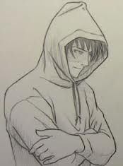 guy in hoodie drawing - Google Search
