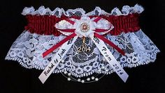 A Prom Must Have. Fancy Bands Prom Garters in 175 colors to match your Prom Dress. Personalize your Prom Garter with Imprinted Ribbon Tails with your names & event. Add a Year Charm for keepsake. Prom Garters on white black or ivory lace. Style # PR-W Visit: www.garters.com/page37b.htm
