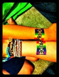 People showing of there pride Temp Tattoo, Temporary Tattoo, Pride Tattoo, Lgbt Support, Lgbt Tattoos, Tatoos, True Colors, Equality, Piercings