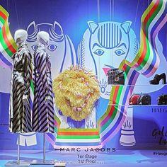 """GALERIES LAFAYETTE, Paris, France, """"Exposition """" Quadi-Pagan Modern"""" par l'artiste coréenne Yang Haegue"""",  (It's French), pinned by Ton van der Veer"""
