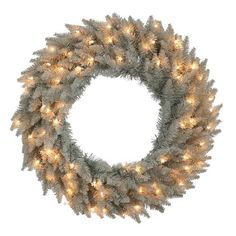 30 in Grey Fir Prelit Wreath >>> Read more  at the image link.