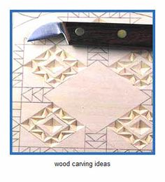 chip carving patterns  sample ideas