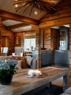 Strategy, methods, furthermore quick guide with regard to acquiring the ideal end result and also making the maximum utilization of kitchen cabinet makeover Rustic Cabin Kitchens, Rustic Kitchen Design, Log Home Kitchens, Outdoor Kitchens, Cabin Homes, Log Homes, Cabin Interiors, Cabinet Makeover, Cabana