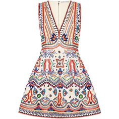 Alice And Olivia Alice + Olivia Patty Embellished Seamed A-line Dress In Multi Summer Day Dresses, White Dress Summer, White Mini Dress, Summer Wear, White Beaded Dress, White Embroidered Dress, Beaded Dresses, Maxi Dresses, Party Dresses