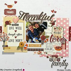 """creating {non}sense: Another """"Thankful"""" layout created with the MCS November Main Kit."""