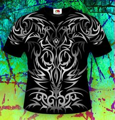 Celtic Pattern T-shirt printed front and back Tattoo T-shirt