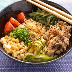 Chicken Hiyashi Chuka - with Fresh Ramen Noodles & Summer Vegetables...AMAZING!