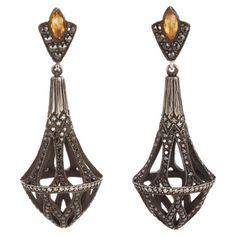 Sevan Bicakci Pavé Diamond Cage Drop Earrings at Barneys.com