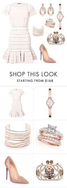 """Chic Morning Outfits"" by carol-youssef ❤ liked on Polyvore featuring Alexander McQueen, DKNY, Alexis Bittar, Christian Louboutin and Hueb"