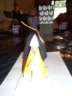 Origami en el jardín japonés