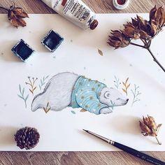 Watercolorist: @ninastajner  #waterblog #акварель #aquarelle #painting #drawing #art #artist #artwork #painting #illustration #watercolor #aquarela