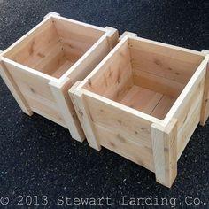 SET OF TWO Square Foot Cedar Planter Box for your Organic Garden - Made in Oregon Ähnliche Artikel w Cedar Planter Box, Garden Planter Boxes, Wooden Planters, Box Garden, Square Planter Boxes, Railing Planters, Planter Box Plans, Pallet Planter Box, Cedar Garden