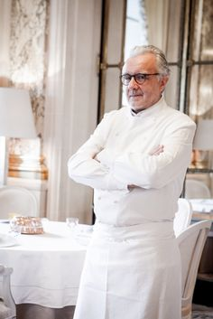 Chef Alain Ducasse at Le Meurice, Paris.
