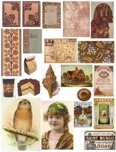 Free vintage collage sheets #vintage