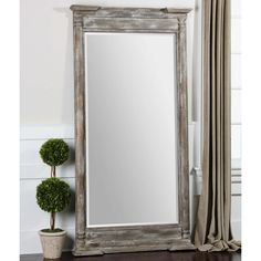Uttermost Valcellina Wooden Leaner Mirror - x in. - Add a dash of rustic style to your wall with the Uttermost Valcellina Wooden Leaner Mirror – x in. This decorative piece offers reflection. Rustic Mirrors, Wood Framed Mirror, Rustic Wall Decor, Mirror Glass, Mirror Mirror, Entry Mirror, Ikea Mirror, Trumeau Mirror, Rustic Desk