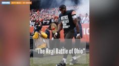 A union representing Cleveland police is upset after Browns' wide receiver Andrew Hawkins wore a shirt protesting the deaths of black men.