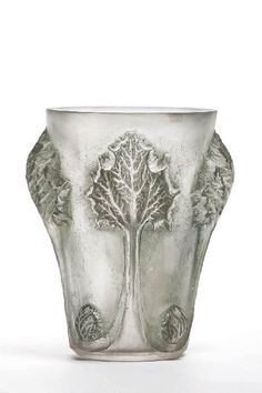 René Lalique, Rhubarbe vase, lost wax glass, 1913