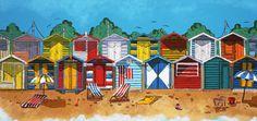 Brighton beach, Painting by Olga Shiryaeva (Shori) | Artfinder