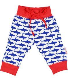 Marrant pantalon avec baleines bleues par Baba Babywear #emilea