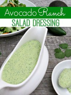 Avocado lovers unite! This Avocado Ranch Salad Dressing is the perfect blend! Serve it on salad, tacos, fajitas and more!
