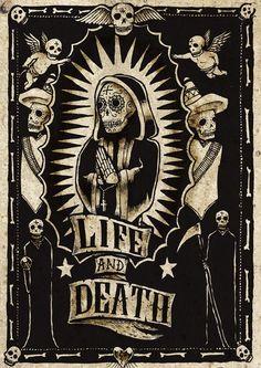 """""""life and death"""" (día de los muertos)"""