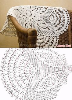 Bildergebnis für mandalas tejidos al crochet patrones Crochet Table Runner Pattern, Crochet Doily Patterns, Crochet Tablecloth, Crochet Diagram, Crochet Chart, Thread Crochet, Filet Crochet, Crochet Motif, Irish Crochet