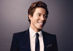 Shaun White :) Glad he got a haircut. Am I the only curly girl who has wanted to ask guys with longish curly hair what their hair care routine is? Or am I just even weirder than I thought...Hmmm.