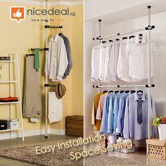 pole clothes hanger rack