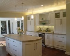 Kitchen Ivory Shaker Kitchen Cabinets Design, Pictures, Remodel, Decor and Ideas - page 14